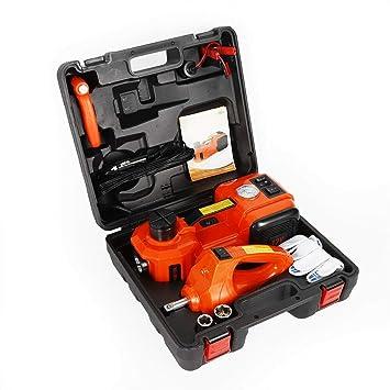 SHIOUCY Gato hidráulico 4 en 1, 12 V, Gato hidráulico 5T, Herramienta para reparación de vehículos, Cambio de neumáticos: Amazon.es: Coche y moto