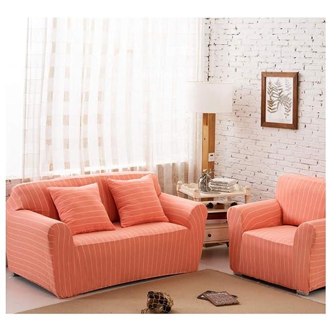 Amazon.com: QQXX - Funda de sofá con diseño de rayas, alta ...
