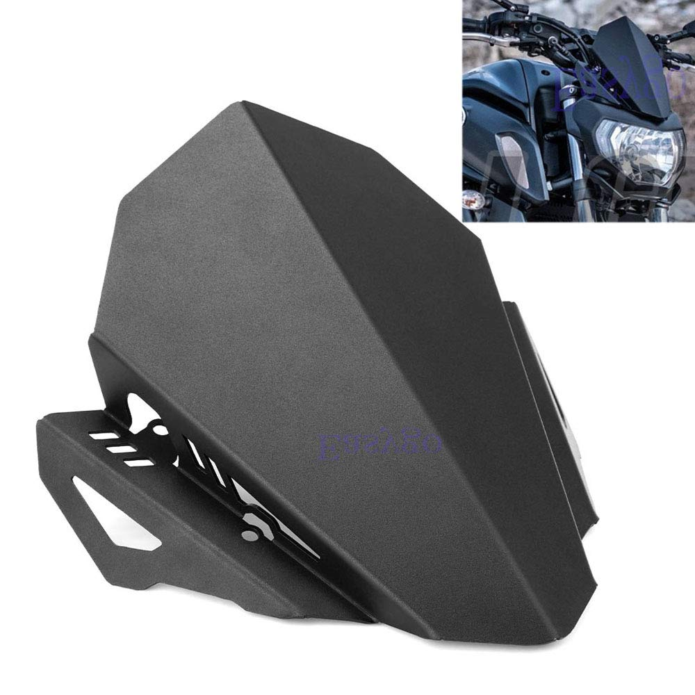 Easygo Aluminum Windscreen for Yamaha MT07 MT-07 2018-2019 Motorcycle MT 07 Windshield Deflector Motorbike Wind Protection