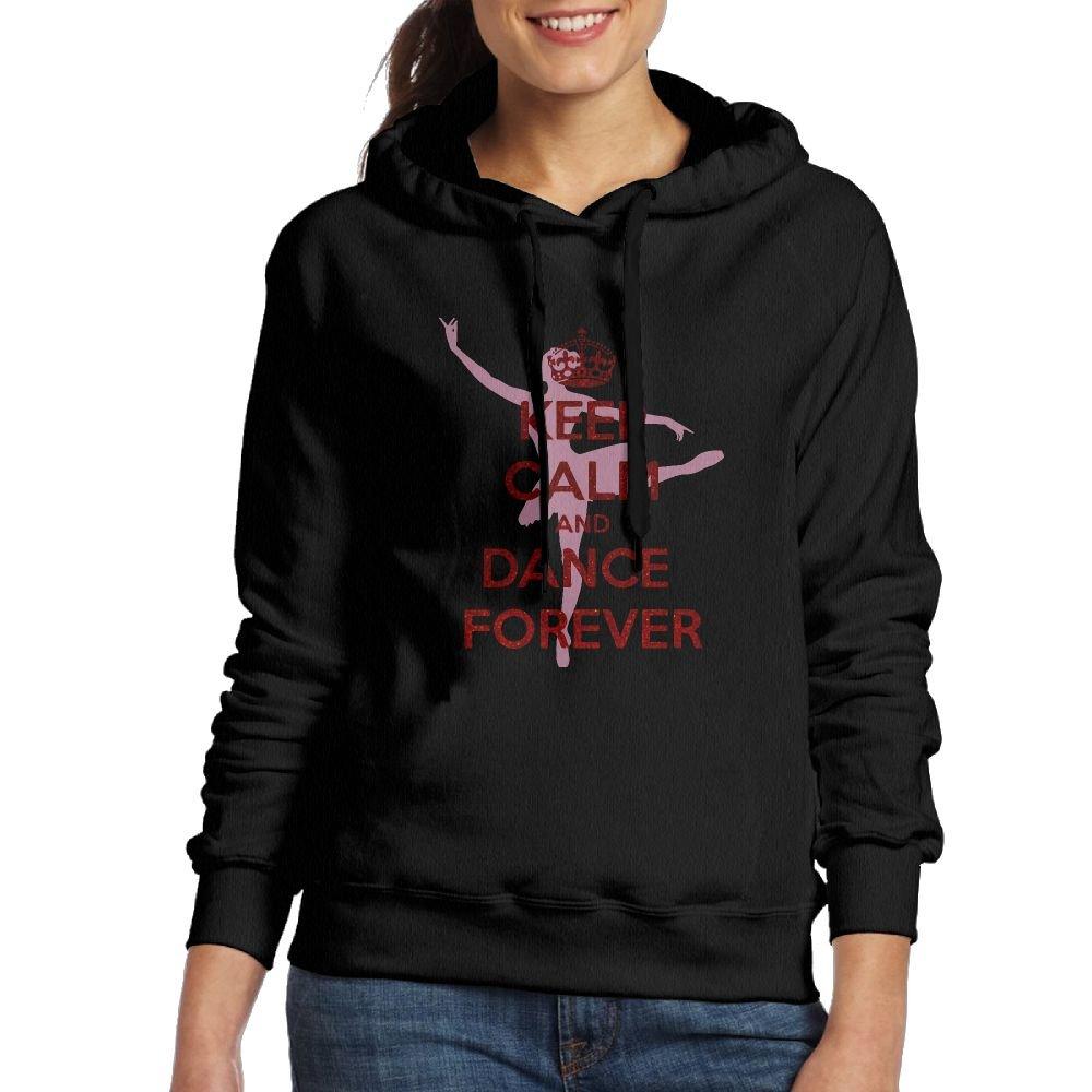 Corelosa Keep Calm and Dance On Women's Hooded Sweatshirt