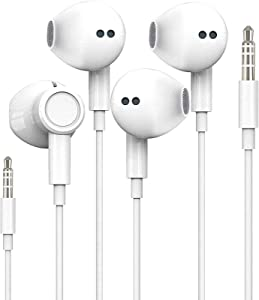 iPhone Earbuds with 3.5mm Headphone Plug [Apple MFi Certified] Mic Call+Volume Control for iPhone Earphones Compatible with iPhone 6s/6plus/6/5s,Android,PC,MP3/4,PC in-Ear Headphone Headset -2 Pack