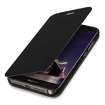 kwmobile Funda para Huawei G8 / GX8 - Carcasa con [Tapa Tipo Libro] para móvil - Case Protector en [Negro]