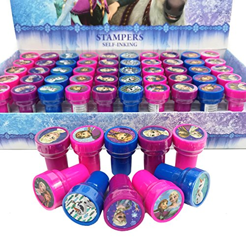 Disney Frozen Anna Elsa Olaf 30x Stampers Self-inking Birthday Party Favors -