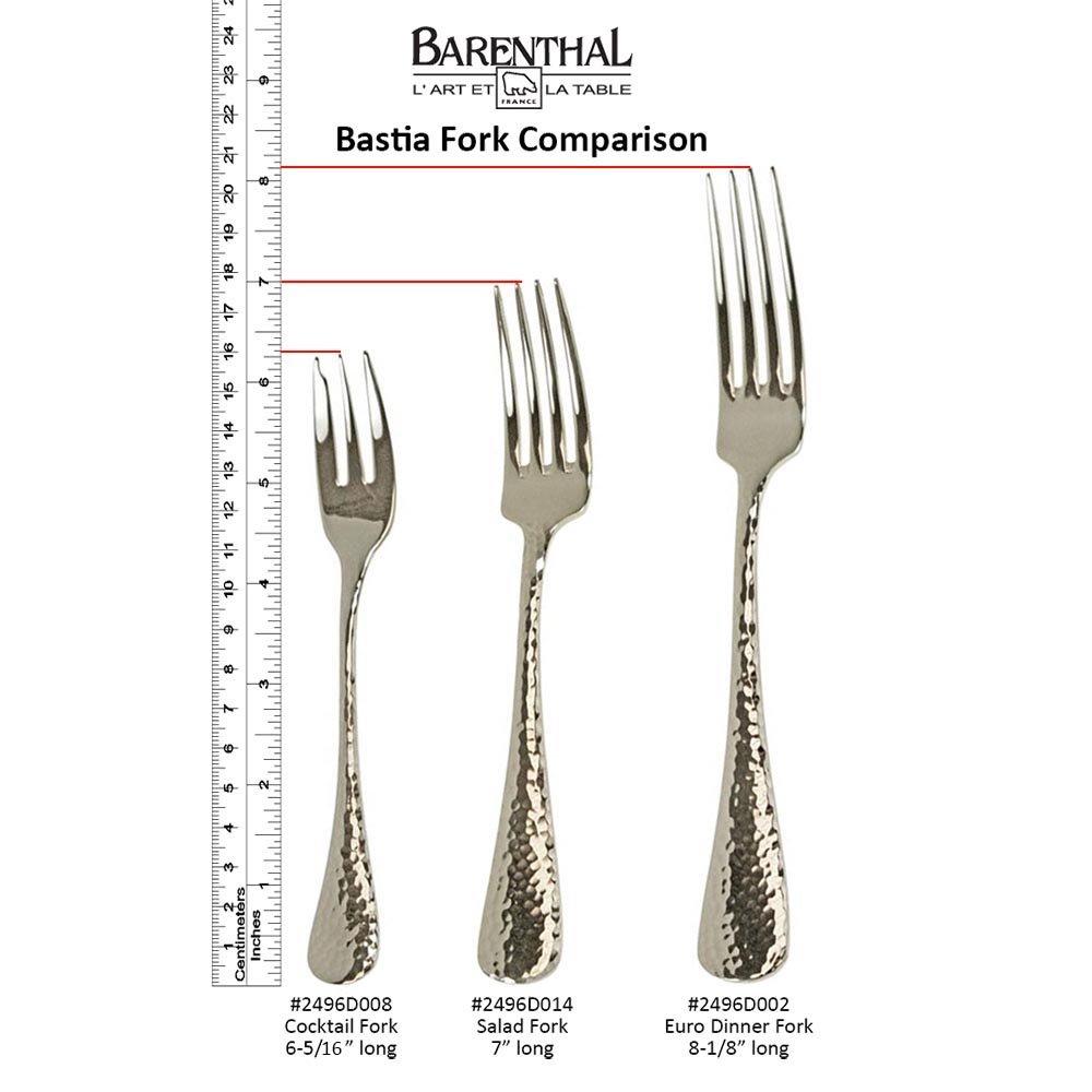 Bastia Hammered Stainless Steel Salad/Desert Fork, 12 each/box