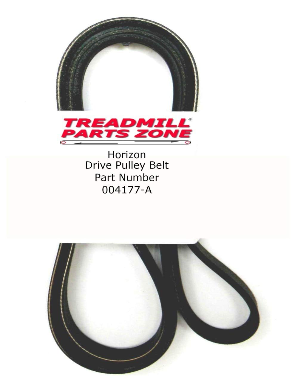 TreadmillPartsZone Replacement Horizon Elliptical Model 30701 Sears Free Spirit Drive Pulley Belt Part Number 004177-A