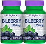 Pure Bilberry Extract 1000mg | Eyesight Support | Rich in Natural Antioxidants | Supports Connective Tissue Health 60 Concentrated Capsules Pills Natural Non GMO Premium Herbal Supplement