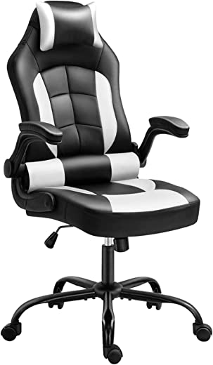 Gaming Chair, Cadcah Ergonomic Computer Chair Reclining High Back Office Chair Height Adjustment Desk Chair with Armrests Headrest and Lumbar Support PC Gaming Chair for Adults Teens Men Women