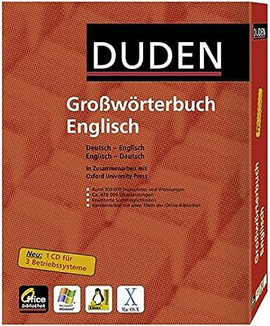 Duden Oxford Großwörterbuch Englisch Office Bibliothek Cd Rom Win Mac Os X Linux