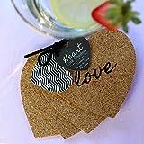 """Kate Aspen """"Heart"""" Cork Coasters, Set of 4"""