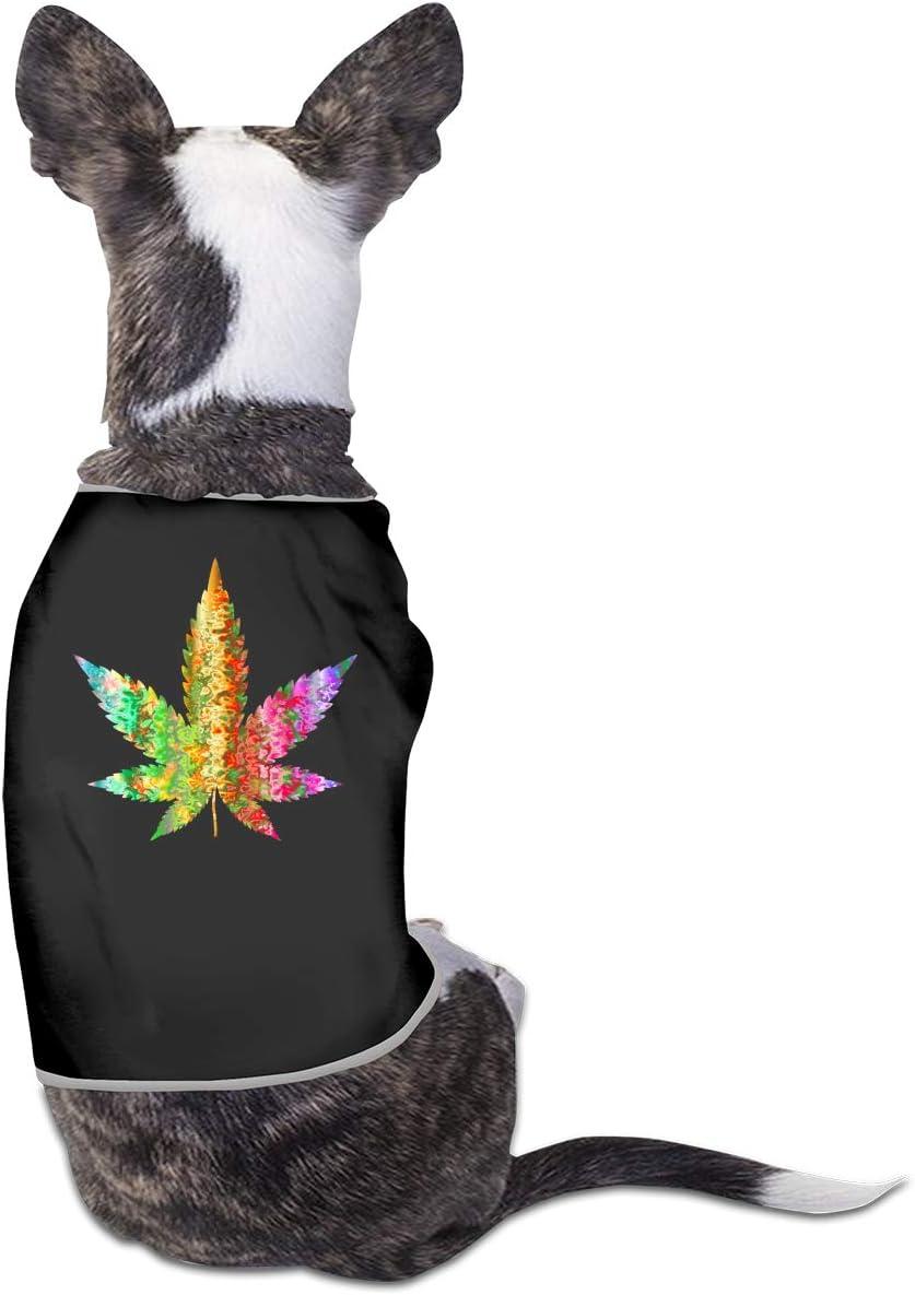 CCYK Colorido Chaleco de Marihuana para Perro, Abrigo, otoño, Invierno, cálido, Ropa para Mascotas para Perros pequeños y Grandes, Chihuahua, Carlino, Ropa de Bulldog francés
