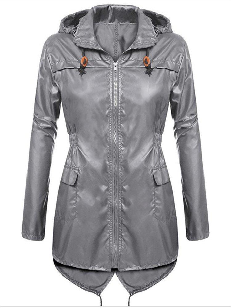 Syvent Women's Waterproof Raincoat Lightweight Active Outdoor Rain Jacket with Hood