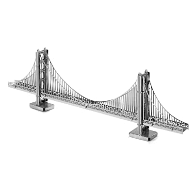 fascinations Metal Earth San Francisco Golden Gate Bridge 3D Metal Model Kit: Varios: Toys & Games