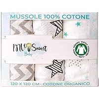 Mantas De Muselina Para Bebés 100% Algodón Orgánico