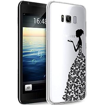 Funda Samsung Galaxy S7 Edge,Carcasa KunyFond Simple Transparente Flor Pintura Pintado Impresion Colores Premium Vistoso Silicona Frame TPU Dibujo ...