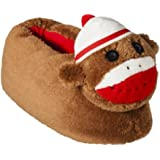 Nick & Nora Womens Brown Sock Monkey Slippers House Shoes