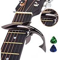 Imelod Zinc Alloy Guitar Capo Shark Capo for Acoustic and Electric Guitar with Good Hand Feeling, No Fret Buzz and…