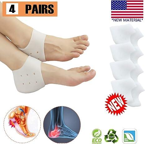 8 PCS Silicone Gel Heel Protector Plantar Fasciitis Pain Relief Cushion Unisex