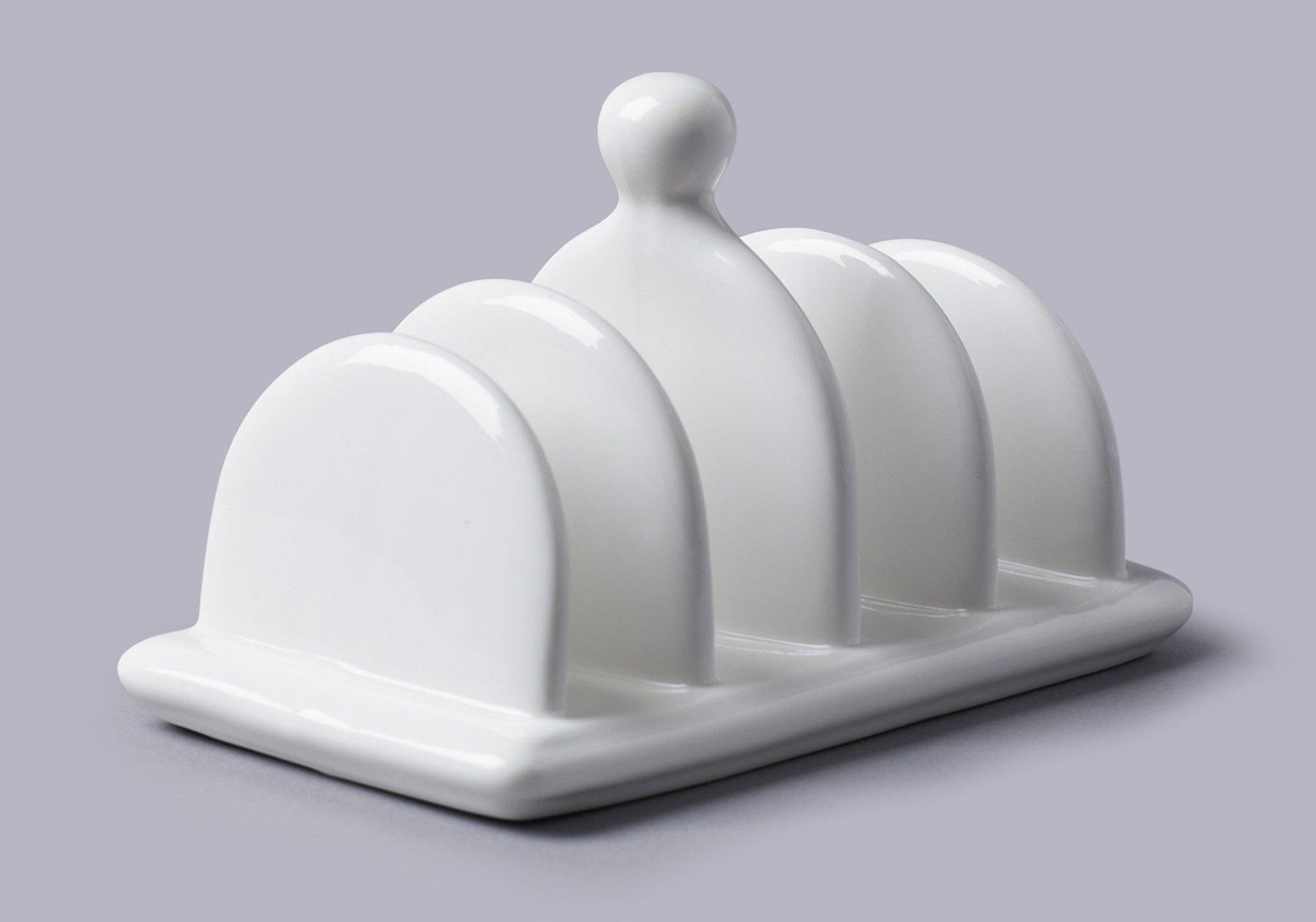 White Ceramic Toast Rack by CKS