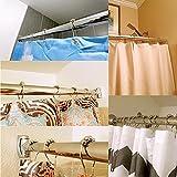 Uigos Shower Curtain Rings for Bathroom - Stainless