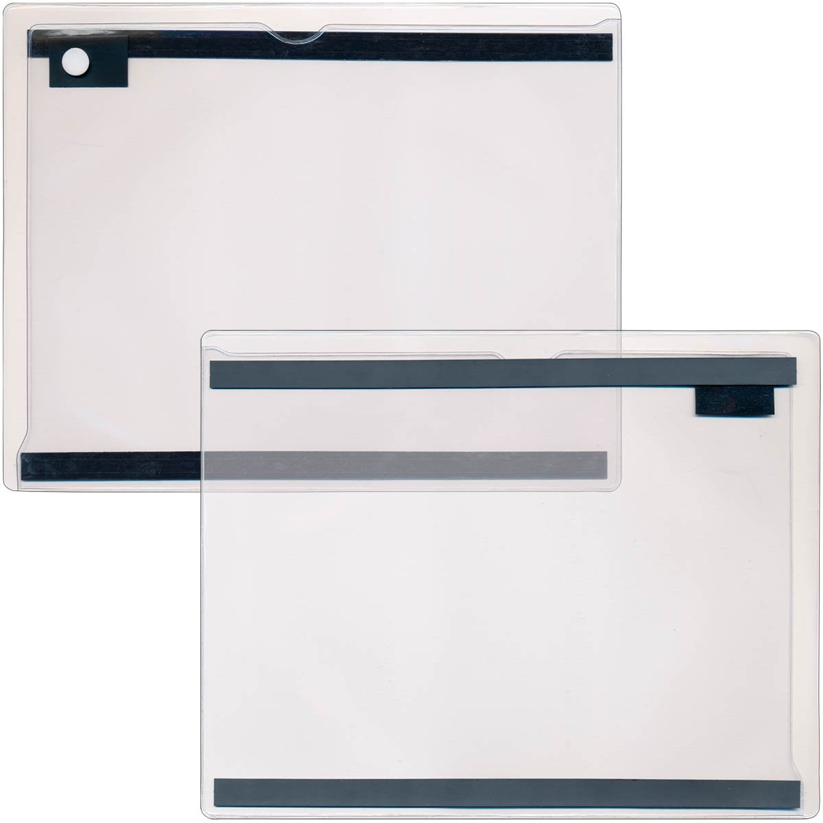 StoreSMART - Magnetic Closure Pocket - Magnetic-Back - 25-Pack - Clear - 8.5'' x 11'' (MCP8511MB-STC-25)