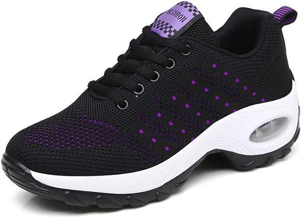 AXDNH Zapatillas De Running Ghost para Mujer, Malla Tejida con Mosca Respirable Zapato Baile Antideslizante Resistente al Desgaste Zapatos amortiguación Air Cushion Zapatos para Correr,Negro,EU38: Amazon.es: Hogar