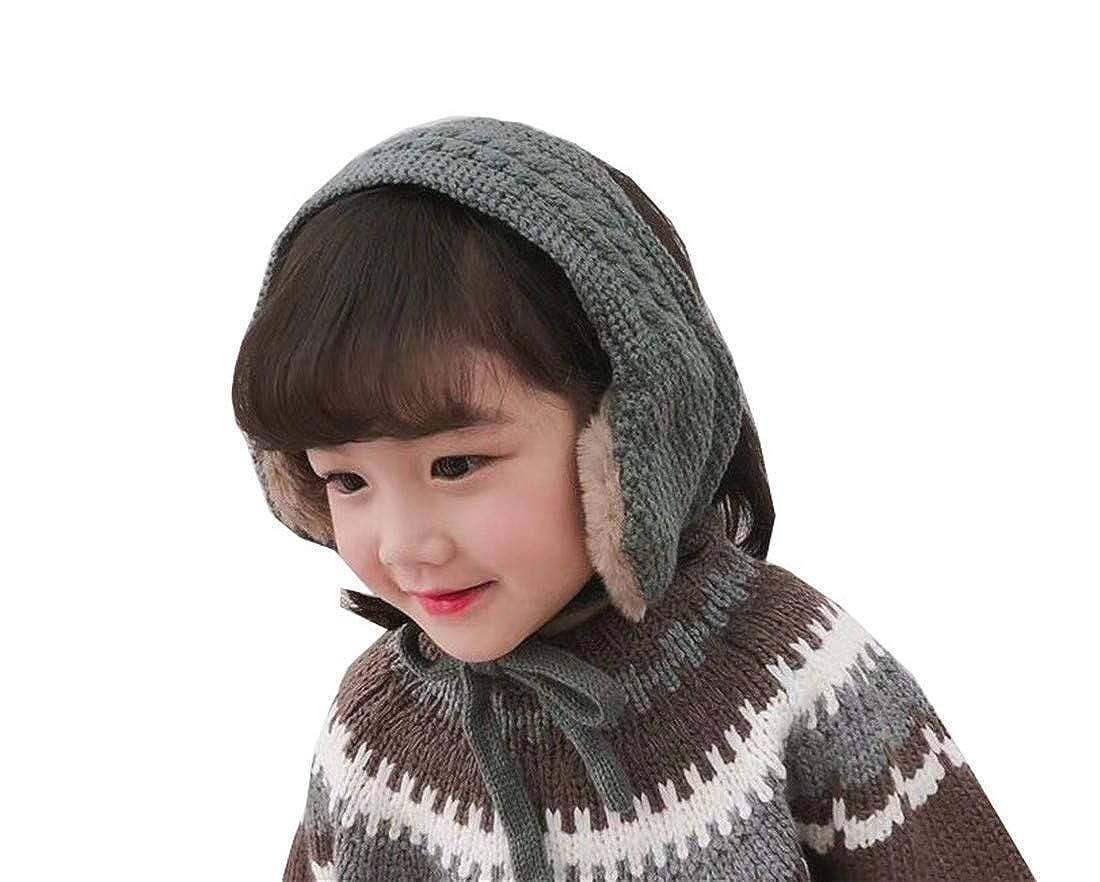 ACVIP Little Girls Wool Knit Polar Fleece Lining Soft Earmuff Neck Warmer Gaiter