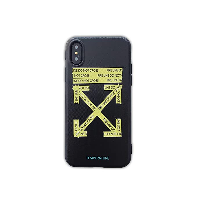 sale retailer 6b9cd 2f510 Amazon.com: Off White OW Spoof Stickers Logo Mobile Phone Case for ...