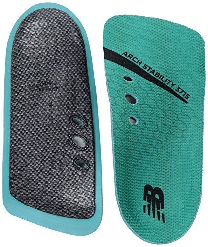 New Balance Insoles 3715 3/4 Arch Stability Insole Shoe, Teal, Medium/W 8.5, M 7 D US