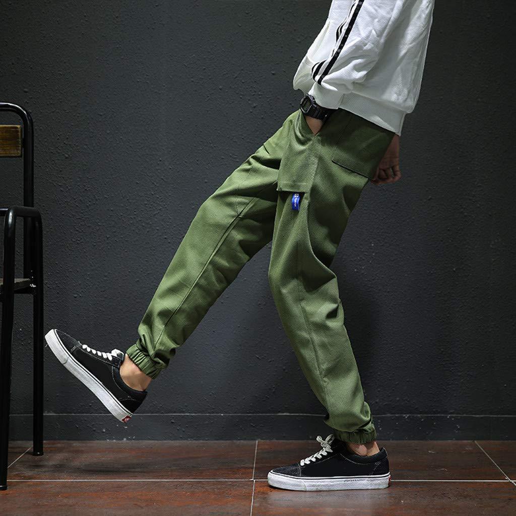 TTEELONG Hosen Herren Neue Freizeit Enge Bedruckte Hose Mode