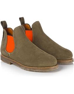 84796f39142 Penelope Chilvers Women's Safari Neon Short Chelsea Boots - Peat/Orange