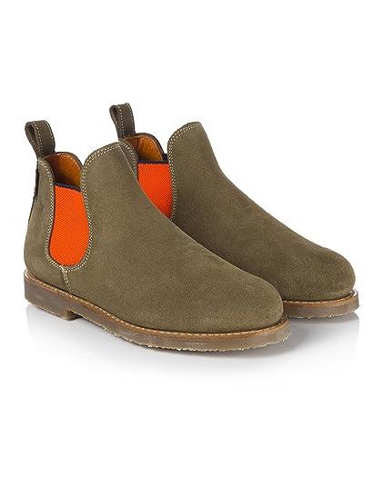 c471f85a179 Penelope Chilvers Women s Safari Neon Short Chelsea Boots - Peat Orange - 4