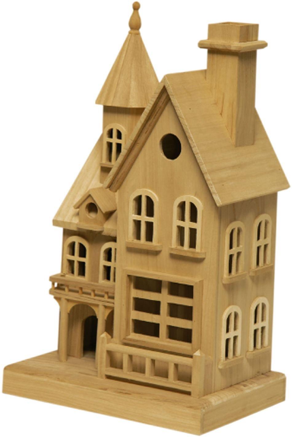 Casa casetta nido, grande, per uccelli, uccelli, uccelli, per uccellini - in legno cm 32x22x55h ed088e