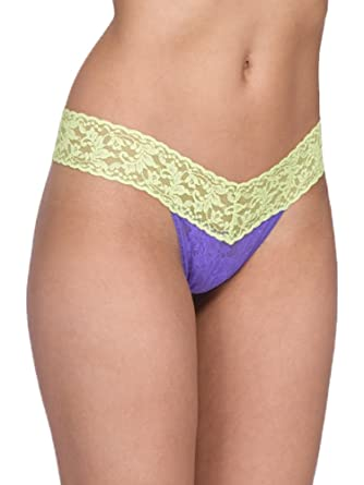 aaf7d0b71d77 Amazon.com: Hanky Panky Colorplay Low Rise Thong (African Violet/Key ...