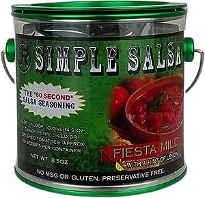 Simple Salsa Fiesta Mild -Mild Heat, Authentic Flavor, MSG & Gluten Free