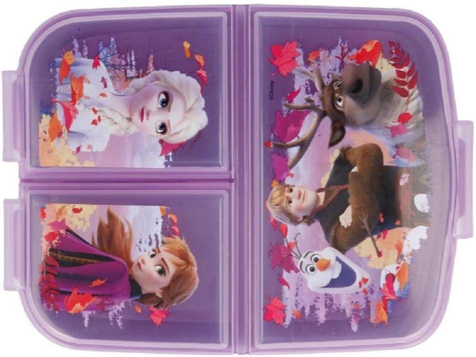 Die Eisk/önigin Lunch-Set Trinkflasche und Brotdose mit Yuhu Bande Namens-Aufkleber Sticker Frozen