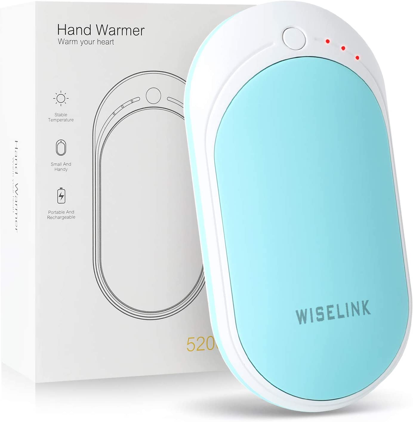 5200mAh Rechargeable Hand Warmers USB Heater Power Bank Electric Pocket Gift NEW