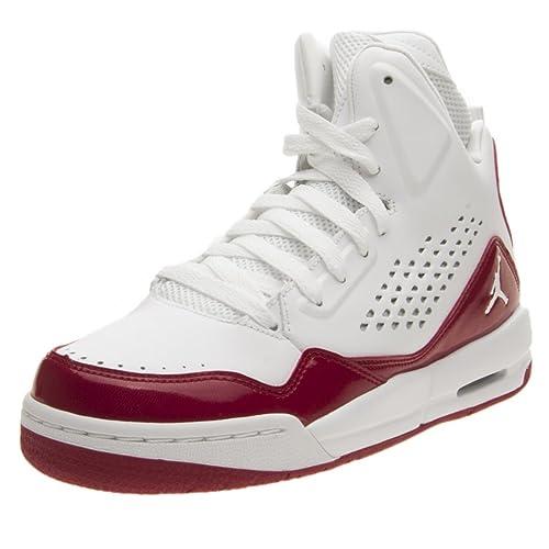 58cc947c5 Nike Jordan SC-3 BG - Zapatillas de Baloncesto de Piel Para Niño Gris  Blanco Rojo Gris Size  37.5  Amazon.es  Zapatos y complementos