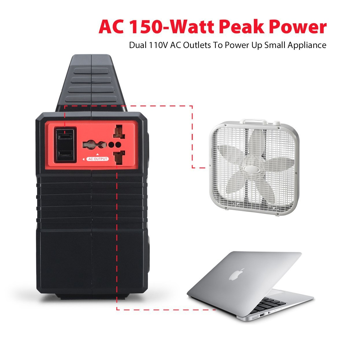 100 Watt Portable Generator Power Station 40800mah Suoer 2 In 1 Inverter Charger 500 Typer Saa 500w C 151wh Cpap Battery Pack Home Camping Emergency Supply Charged By Solar Panel Wall