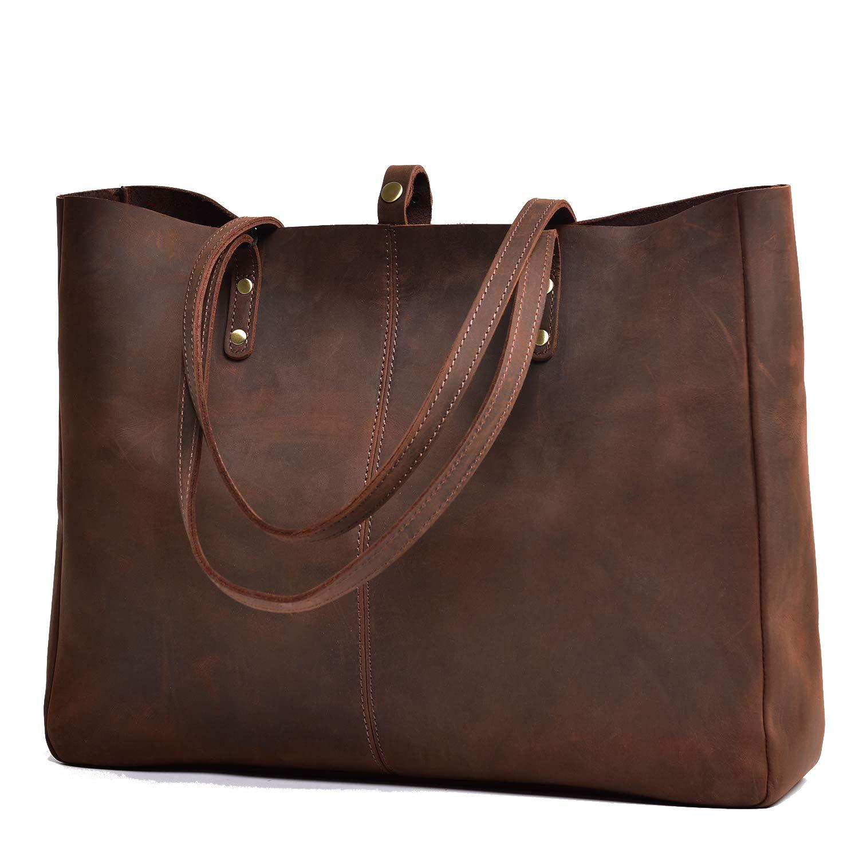 003b00076679 Amazon.com  Jack Chris Vintage Genuine Leather Handbag Large Tote Bag for  Women