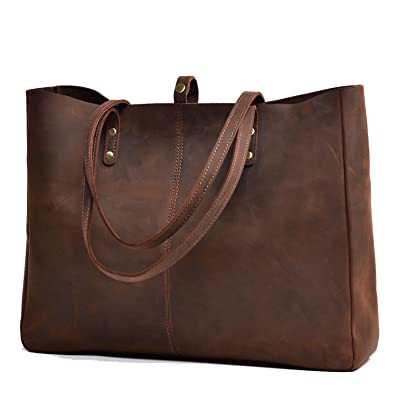 Amazon.com  Jack Chris Vintage Genuine Leather Handbag Large Tote Bag for  Women 17201a177897b
