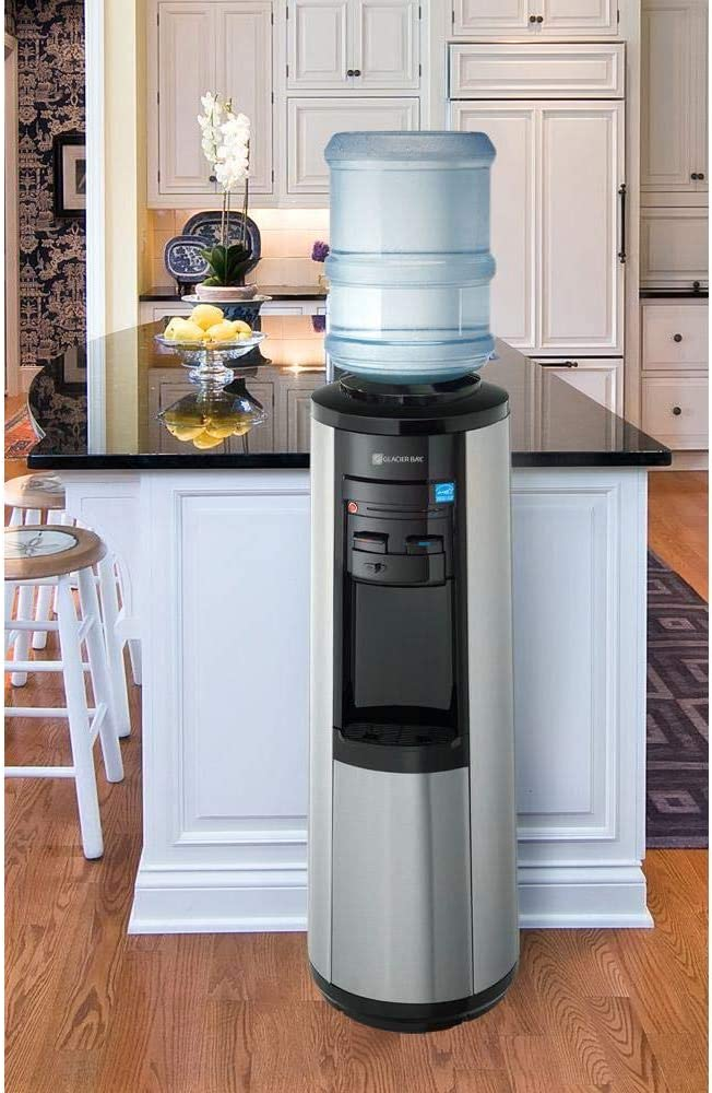 Glacier Bay 3 Gal or 5 Gal Hot, Room and Cold Water Dispenser Black and Stainless Steel - -