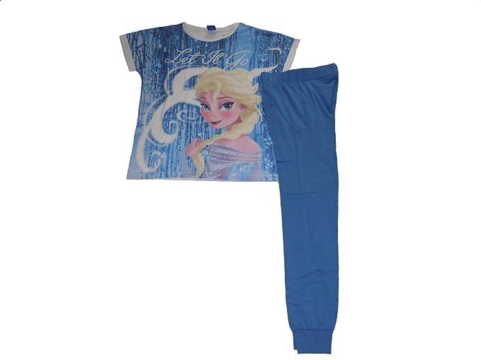 """Juego de pijama de Elsa para mujer con texto en inglés """"Let it snow"""""""