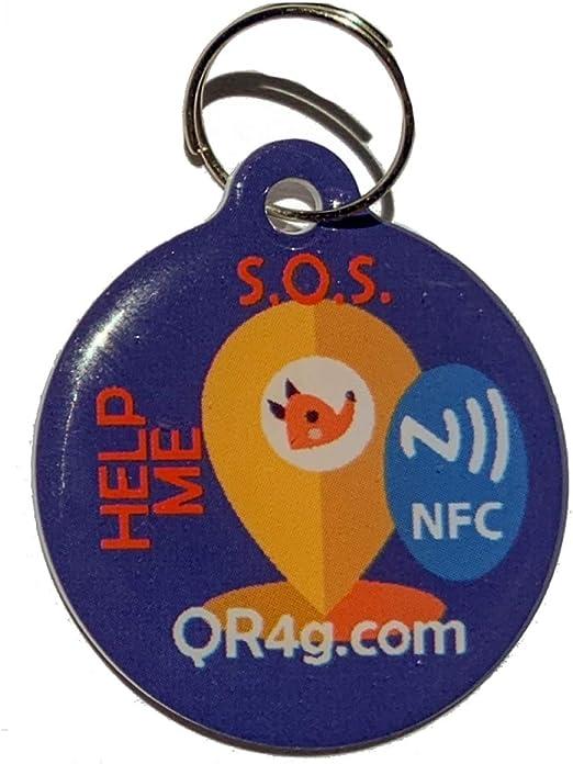 QR4G.com GPS Placa identificativa inteligente para mascotas (perros y gatos) con QR GPS: Amazon.es: Productos para mascotas