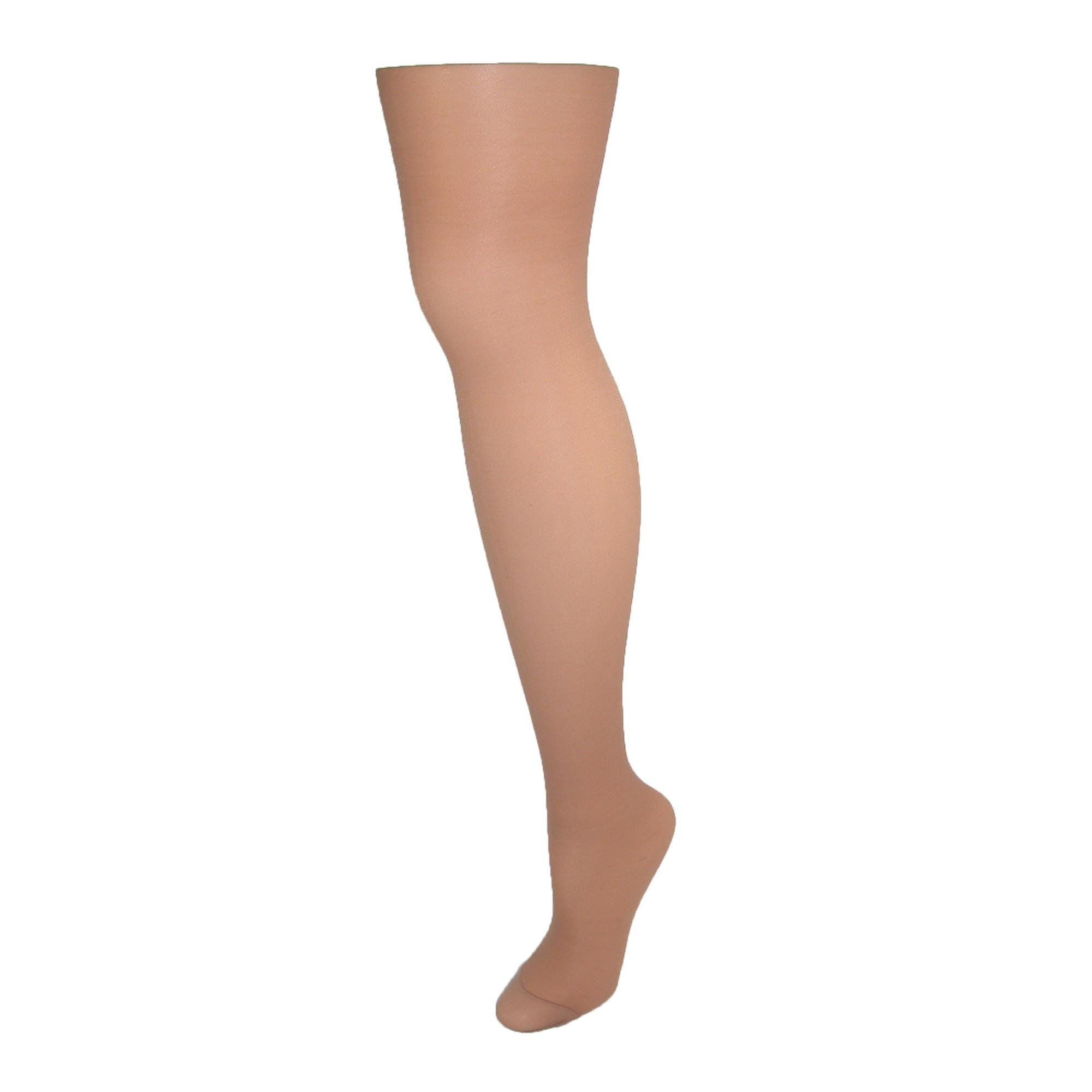Hanes Alive Womens Nylon Full Support Reinforced Toe Sheer Pantyhose (Pack of 3), A, Little Color