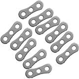 Gazechimp 10 Stk. Aluminiumlegierung 3-Loch Seilspanner Anti-Rutsch Verstellbar Werkzeug - Silber, Rope Tensioner, für 2-5mm Zeltleinen Abspanner