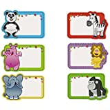 100 Animal Name Tag Stickers - New / Shrink-wrapped