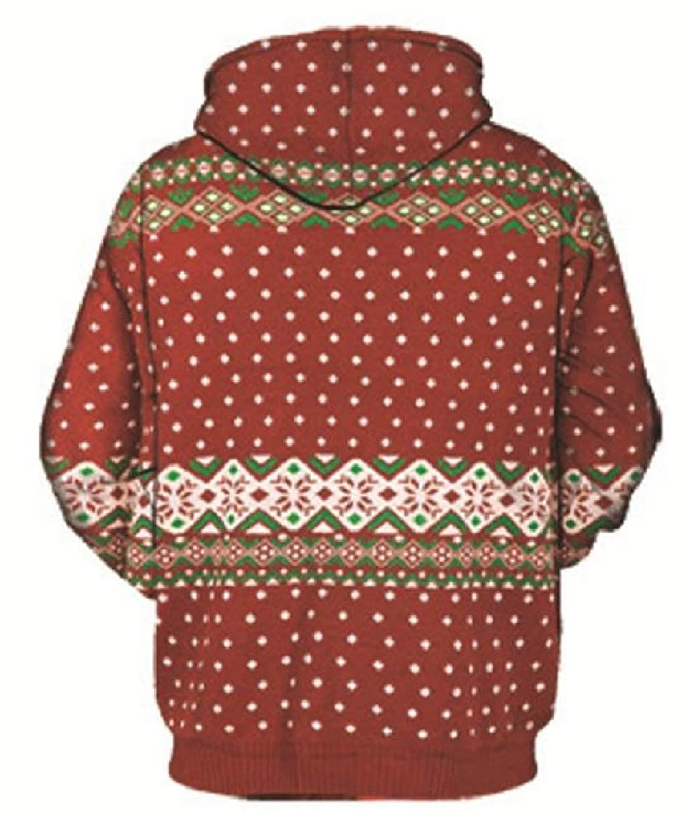 Tingwin Womens Couple Hood Long-Sleeve Digital Print Pullover Sweatshirts