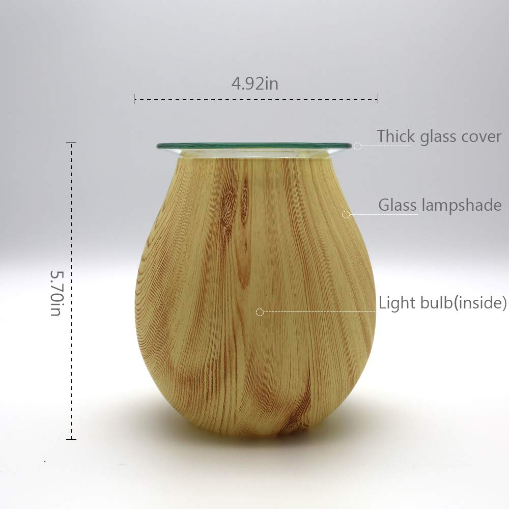 Coosa Electric Oil Warmer Wood Grain Pattern 120v A C Lamp Flicker From Led Votive Candle Type 1 Cob Schematic Aromatherapy Wax Melts Tart Burner Night Light Aroma Decorative For Gifts Home Decor
