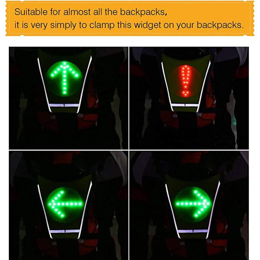 luz Trasera de Control Remoto LIOOBO Chaleco con Intermitentes led para Montar en Bicicleta
