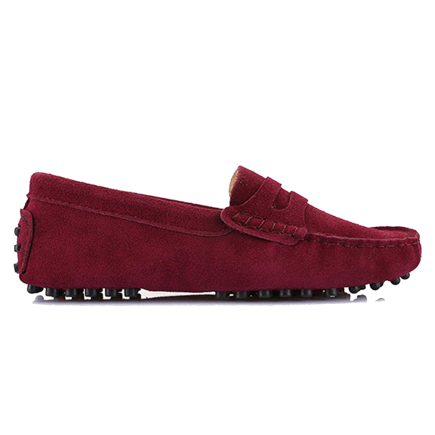 Wine Red Women's Woman shoes Flats Casual Loafers Soft Slip On Moccasins Lady Driving shoes
